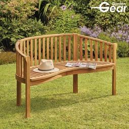 Garden Gear Acacia 3Person Banana Bench