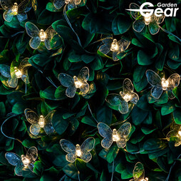 Garden Gear Solar Butterfly String Lights White