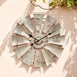 Wyegate Windmill Style Garden Clock ? 76cm