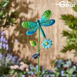 Glass Dragonfly Solar Light 2 Pack