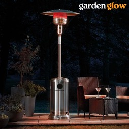 Garden Glow Stainless Steel Gas Patio Heater with Cover