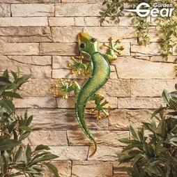 Garden Gear Metal and Glass Gecko Wall Art
