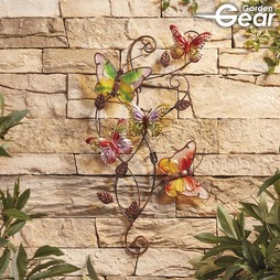 Garden Gear Metal and Glass Butterflies Wall Art