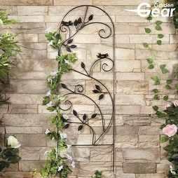 Garden Gear 1.2M Metal Plant Support Leaves