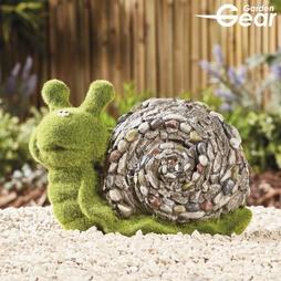 Garden Gear Flocked Effect Snail Garden Ornament