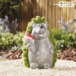 Garden Gear Flocked Effect Hedgehog Garden Ornament