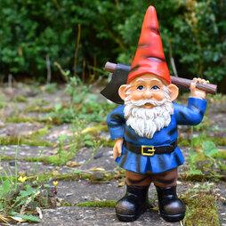 Garden Gnome with Axe Outdoor Garden Ornament