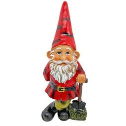 Garden Gnome with Spade Outdoor Garden Ornament