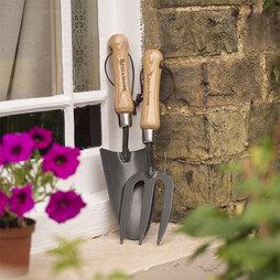 Kent & Stowe Carbon Steel Hand Trowel & Fork Set