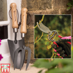 Kent & Stowe Secateurs, Trowel and Fork Set