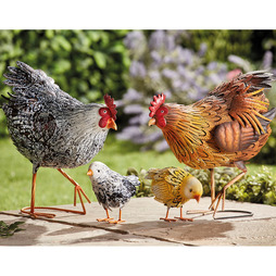 Metal Hen & Chick Set