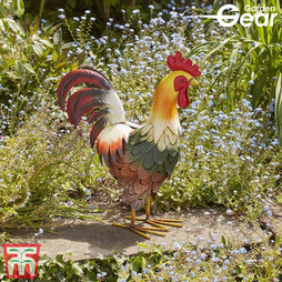 Metal Garden Ornament 'Proud Cockerel' - Gift