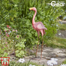 Metal Flamingo Garden Ornament - Gift