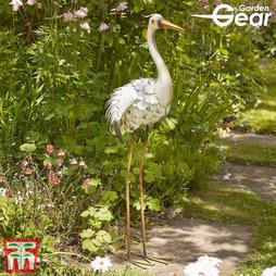 Garden Gear Metal Heron Garden Ornament - Gift