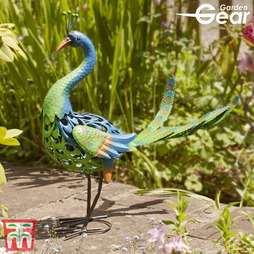 Peacock Metal Garden Ornament - Gift