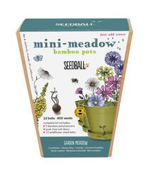 Seedball Bamboo Pots - Garden Meadow