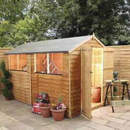10 X 6 Waltons Overlap Shed