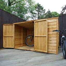 Waltons 4ft x 6ft Wooden Overlap Pent Bike Store