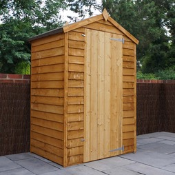 4 x 3 Waltons Overlap Apex Wooden Garden Shed