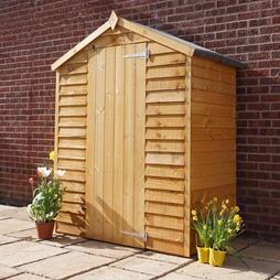 5 x 3 Waltons Overlap Apex Wooden Garden Shed