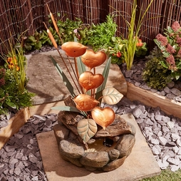 Serenity Lily Pad Cascade Water Feature - Gift