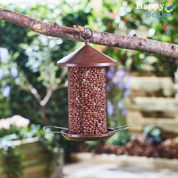 Happy Beaks WoodenEffect Lantern Nut Feeder