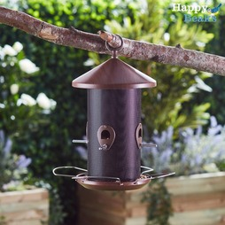 Happy Beaks WoodenEffect Lantern Seed Feeder
