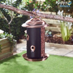 Happy Beaks Copper Finish Twin Feeder