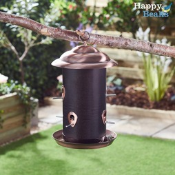 Happy Beaks Copper Finish Seed Feeder