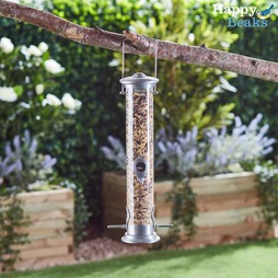 Happy Beaks Large Aluminium Seed Feeder