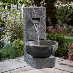 Serenity StoneEffect Cascading Water Bowl Water Feature