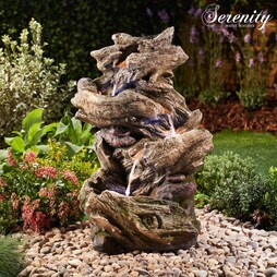 Serenity FourTier WoodEffect Water Feature