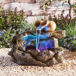 Serenity Table-Top Woodland Pouring Pots Water Feature
