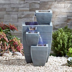 Serenity TableTop Oblong StoneEffect Water Feature