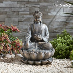 Serenity Sitting Buddha Water Feature