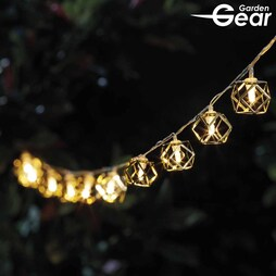 Garden Gear Solar Diamond Cage String Lights with 10 LEDs