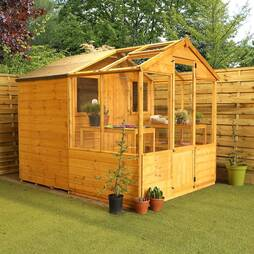 8x6 Combi Shed Greenhouse