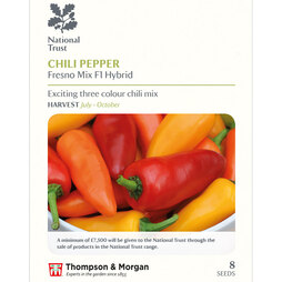 Chilli Pepper 'Fresno Mix' F1 (National Trust)