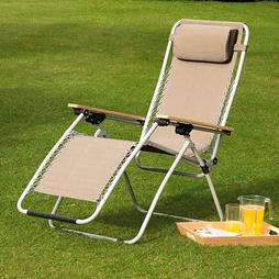 Garden Gear Ultimate Zero Gravity Chair Cream