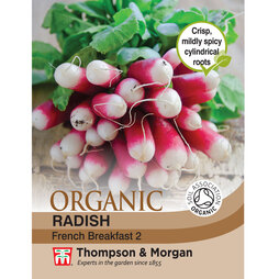 Radish 'French Breakfast 2' - Organic Seeds