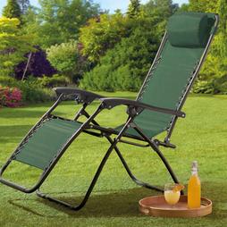 Garden Gear Zero Gravity Chair Green 2 Pack