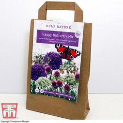 Happy Butterfly Flower Mixture Bulbs in Paper Bag