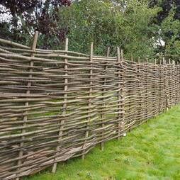 Hazel Hurdle Decorative Woven Garden Fencing Panel 6ft x 4ft (1.8m x 1.2m) Natural Woven Wattle Fencing