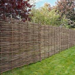 Hazel Hurdle Decorative Woven Garden Fencing Panel 6ft x 5ft (1.8m x 1.5m) Natural Woven Wattle Fencing