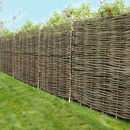 Hazel Hurdle Decorative Woven Garden Fencing Panel 6ft x 6ft (1.8m x 1.8m) Natural Woven Wattle Fencing