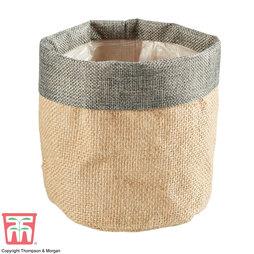Grey Top Jute Bag Pot