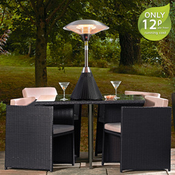 Garden Glow Electric Rattan Table Top Patio Heater