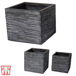 Fibre Clay Vermont Cube Graphite Pot Set