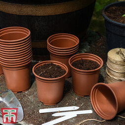 Teracotta coloured Grow Pots