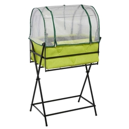 Garden Grow Greenhouse Frame and Cover for Raised Metal Planter